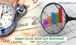 Asgari ücret 2020 İçin Belirlendi
